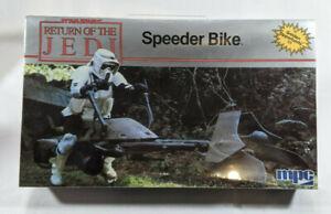 MPC Star Wars Return of the Jedi Speeder Bike Model Kit - Sealed - 1983