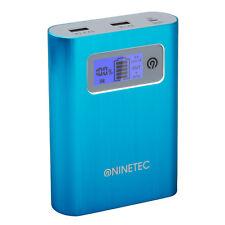 B-Ware NINETEC PowerDrive 128GB Flash Speicher 13.400mAh Power Bank Akku Blau