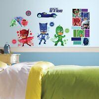 New PJ MASKS Superheroes 13 Wall Decals Catboy Owlette Gekko Room Decor Stickers