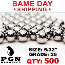 500 Qty 532 Inch G25 Precision Chrome Steel Bearing Balls Chromium Aisi 52100