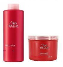 Wella Brilliance Fine Shampoo 1000ml and Mask 500ml