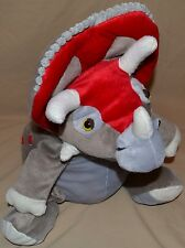 """17"""" Sitting Triceratops Reversible Turns In To Pillow Peek A Boo Plush Kids Doll"""