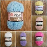 YarnArt Happy Chunky Fluffy Sparkly Teddy Knitting Yarn, choose colour