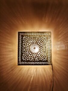 Moroccan square wall fixture oriental Brass night light sconce decoration Fez