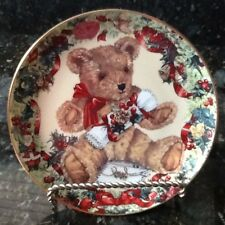 Franklin Mint Plate, Teddy's First Christmas by S. Bengry, (Holder Not Included)
