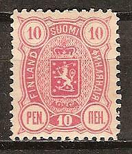 FINLAND # 40a ( Rose ) Mint COAT OF ARMS