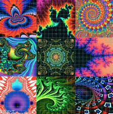 FRACTAL #3X9 -  BLOTTER ART perforated psychedelic