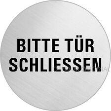 """OFFORM Türschild l Schild l """"Bitte Tür schliessen"""" l Ø 75 mm l Nr. 8494"""