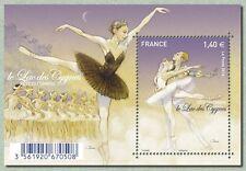 France 2016 stamps day ballet LAC DES CYGNES Tchaïkovski SWAN LAKE ms1v mnh **