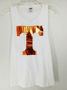 Victoria Secret Pink University Of Tennessee White Tank Top Size Juniors Small