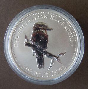 Australien 1 Unze Silber Kookaburra 2005 Stempelglanz, leicht fleckig