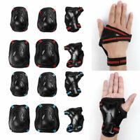 6 Set Kids Protective Knee Wrist Guard Elbow Pads Gear Skate Cycling Bike Sports