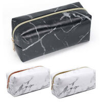 Marble Make Up Bag Toiletry Pencil Stationery Purse Cosmetic Travel Storage Case