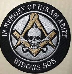 Hiram Abiff Limited Edition Gold Square and Compass PatcH Widows Son Masonic !