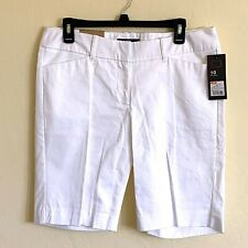 NWT Mossimo White Bermuda Shorts Sz 10