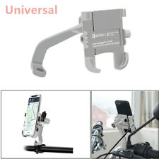 360° CNC Motorcycle Mirror Screw Phone Mounting Bracket Holder + USB Charger 1PC