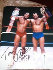 Tony Atlas Signed Autograph Photo Wwe Wcw Coa 8x10 Rocky Johnson #2 Tag Team