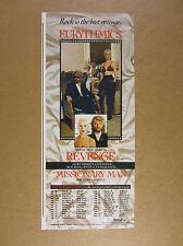 1986 annie lennox photo Eurythmics Revenge album & tour promo vintage print Ad