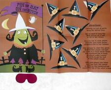 New Halloween Pin the Hat on The Witch Game for 8 Players Halloween Party