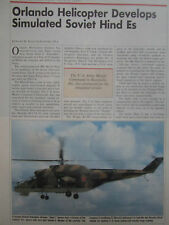 1/89 ARTICLE 3 PAGES ORLANDO HELICOPTERS HIND E SIKORSKY H-19/S55 SOVIET MIL-24