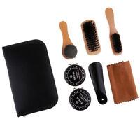 8pcs Shoe Shine Care Kit with Polish Brush Set for Boots Shoes Sneakers
