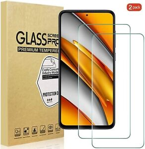 (2 Pack) Tempered Glass Screen Protector For Xiaomi Poco F3