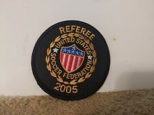 REFEREE US SOCCER FEDERATION PATCH 3 X 3 INCHES