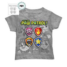 Nickelodeon Paw Patrol Boys 4T Heather Gray Short Sleeve Graphic Shirt New