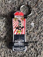 RARE NOS Vintage CHRISTIAN HOSOI Fingerboard Old School Skateboard Keychain