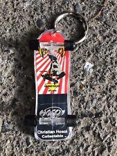 RARE NOS Vintage CHRISTIAN HOSOI Hammerhead Fingerboard Skateboard Keychain