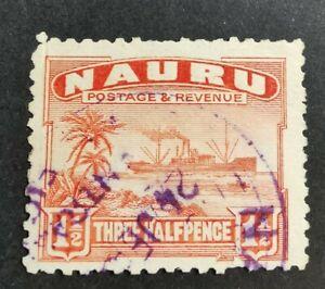 Nauru 1924-48 1 1/2d red used B1