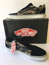 VANS SIZE 11 BLACK WHITE CLASSIC OLD SKOOL SUEDE TIGER CAMO VN 0VOKC5E $65