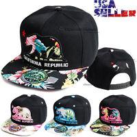 California Republic Baseball Cap Bear Embroidered Snapback CALI Floral Hat Mens