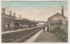 Dorset postcard - Maiden Newton Railway Station - P/U 1906 (Square Circle Pmk)