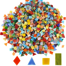 New ListingLanyani 1600 Pieces/2.2 Pounds Vibrant Mixed Glass Mosaic Tiles for Crafts