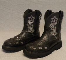 Roper Western Cowboy Leather Fleece lined Studded Riding boots women's size 9M