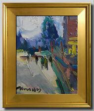 JOSE TRUJILLO Oil Painting Modern Impressionist STREET PEOPLE FIGURES MODERNISM