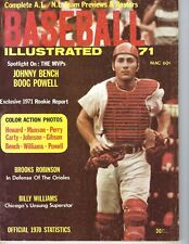 1971 Baseball Illustrated magazine Johnny Bench Cincinnati Reds Williams Cubs Gd
