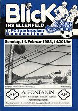 14.02.1988 Borussia Neunkirchen - 1. FC Saarbrücken