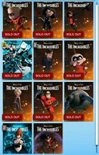 Topps Disney Collect! The Incredibles 15 Anniversary Motion Set + Award