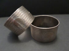 Pair of 1926 silver napkin rings by Atkin Brothers (xvi)