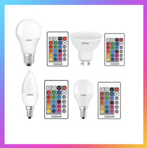 E27 E14 RGB Bulb Led Light 16 Colour Changing Remote Control Edison Screw Lamp