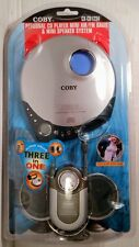 NEW Coby Personal CD Player w/ AM/FM & Mini Speaker System (CX-CD1234) FREE SHIP