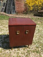 Vintage Mid Century Modern Nightstand Record Cabinet Accent Table Retro 1960's