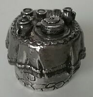 Silver Scenes Tea Time Table Top Silver / Pewter 2 pc PILL BOX Cat Bottom UK