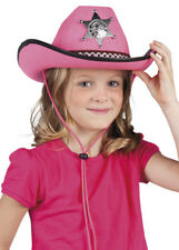 Childrens Size Pink Sheriff Cowgirl Hat