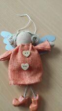 Engel #7  aus Stoff mit Metallflügel ca. 15cm