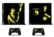 Kungfu Bruce Lee 387 Skin Sticker Sony PS4 PlayStation 4 and 2 controller skins