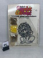 (PL) Vintage Lion Cat Makit & Bakit Stained Glass Garfield Suncatcher
