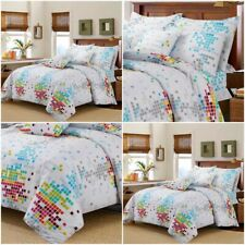 Print Helen Duvet Quilt Cover 100% Poly Cotton Bedding Set Single Double King